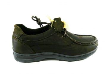 Zapato piel marrón cordo