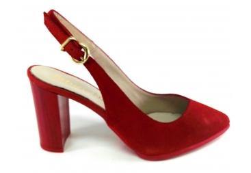 Zapato piel ante rojo