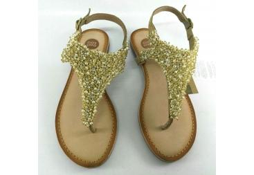 Sandalia perlas dedo