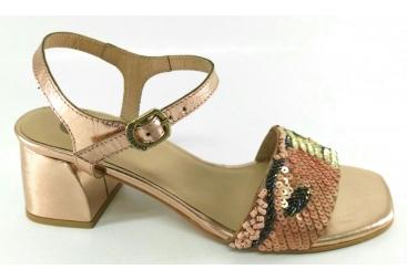 Sandalia lentejuelas colores