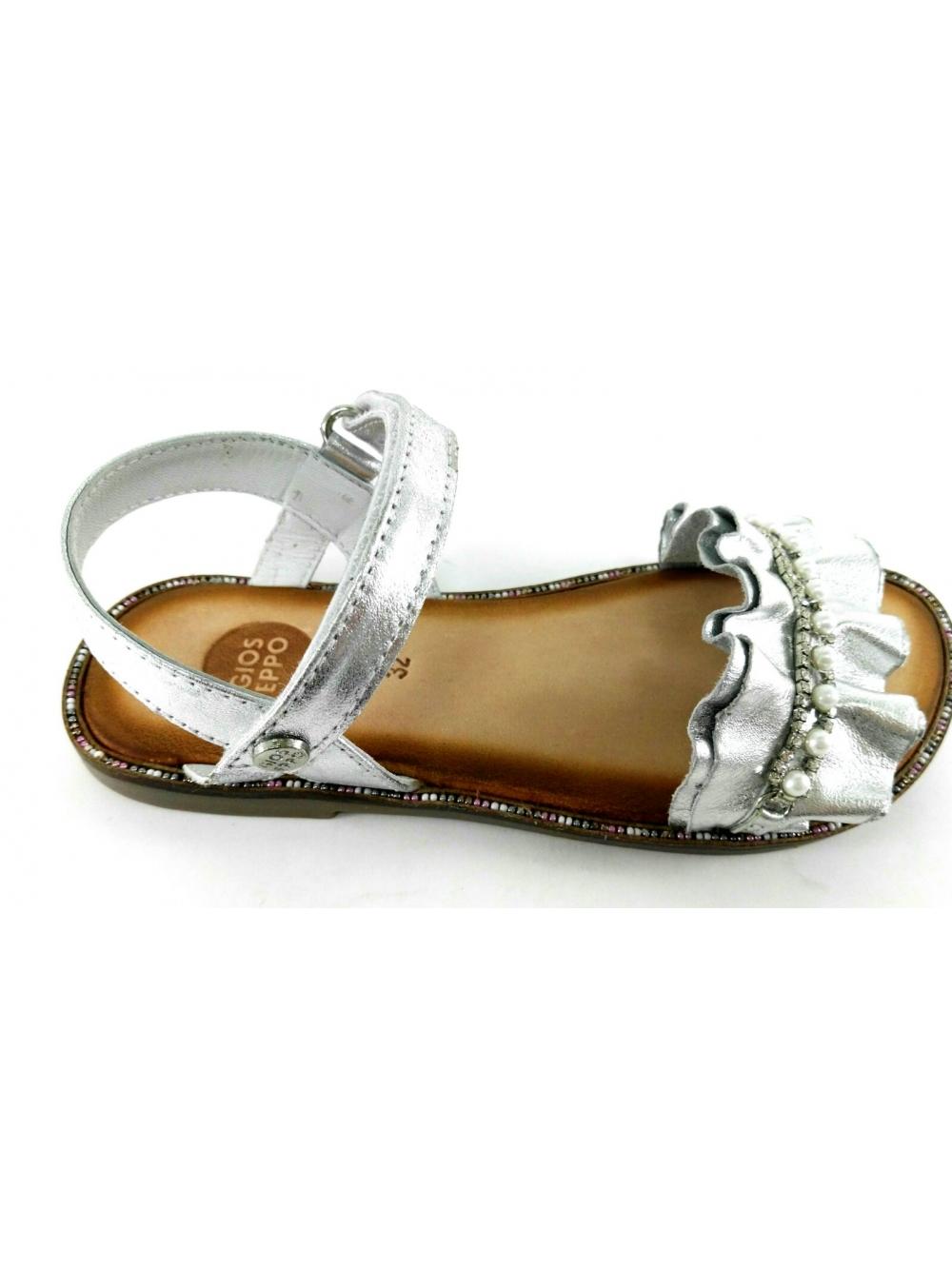 Tozwxikulp Sandalia Calzados Grau Piel Plata Perlas IgYb7vf6ym