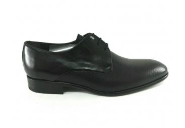 Zapato piel negro liso