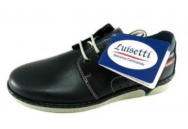 Zapato piel azul