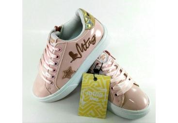 Sneaker charol rosa