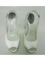 Sandalia retro blanca raso