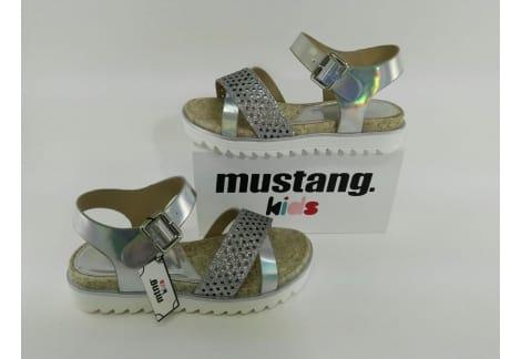 Sandalia plata metalizada