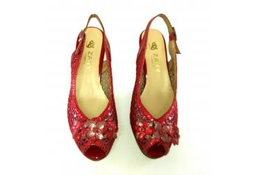 Sandalia ancho especial rojo