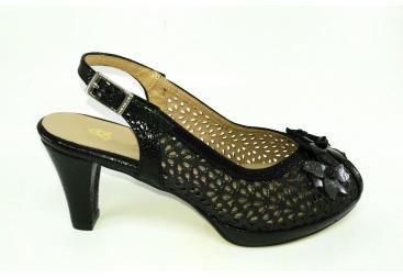 Sandalia ancho especial negra