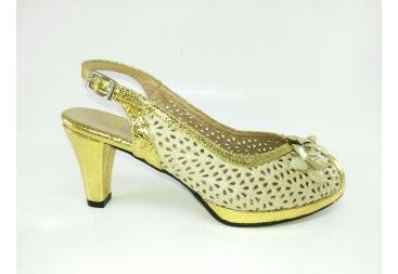 Sandalia ancho especial oro