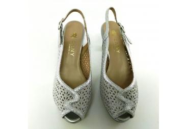 Sandalia ancho especial plata