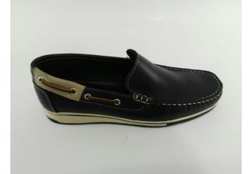 Zapato náutico piel azul