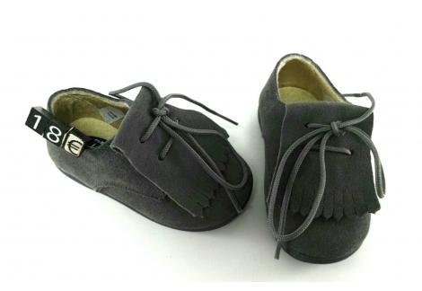 Zapato serraje gris