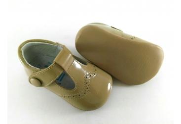 Zapato Vestir Charol Camel