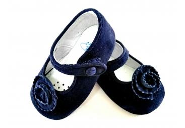 Zapato piel ante Azul