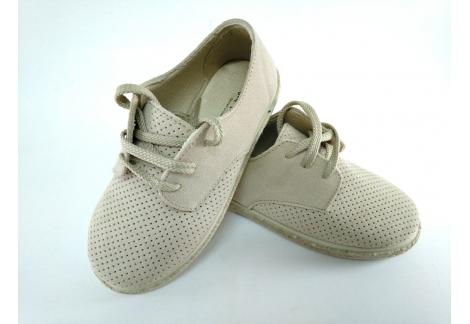 Zapato cordonera beig