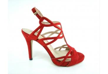 Sandalia de ante rojo Menbur