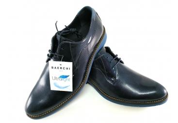 Zapato cordonera charol azul marino