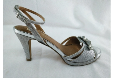 Sandalia plata plataforma fina