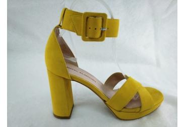 Sandalia en ante amarillo Alarcón