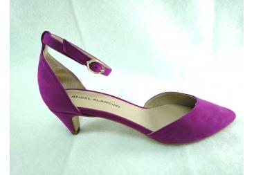 Zapato ante buganvilla Alarcón