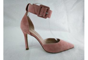 Zapato en ante rosa Alarcón