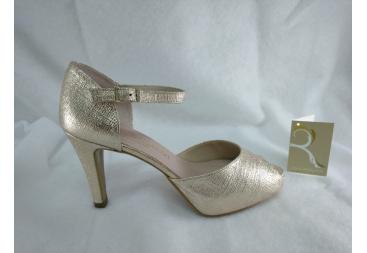 Zapato abierto en color platino Ana Román
