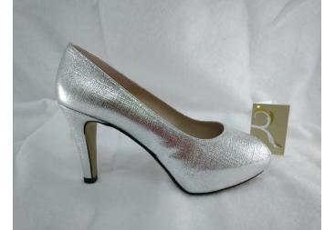 Zapato retro plata Ana Román