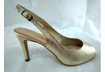 Zapato tipo retro platino Ana Román