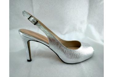 Zapato plata Ana Román
