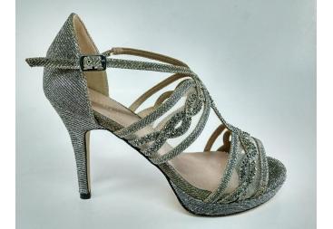 Sandalia plata oro