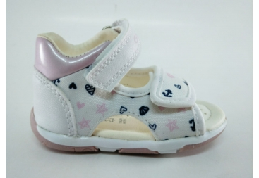 Sandalia Geox rosa y blanca