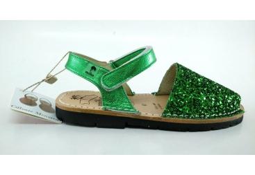 Avarca de menorca en color verde