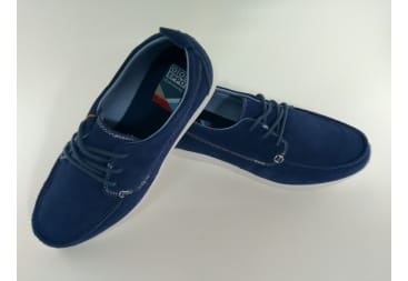 Zapato Naútico Ante Azul