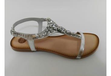 Sandalia plata piedras