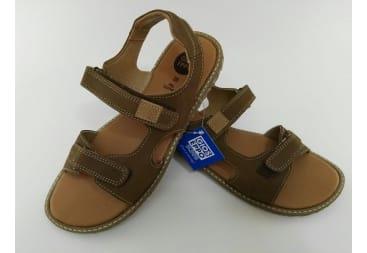 Sandalia piel marrón niño