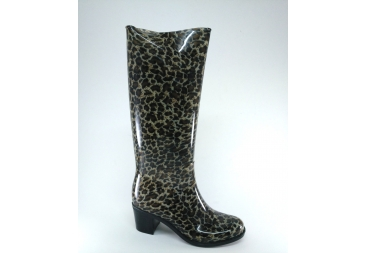 Bota agua señora leopardo tacón