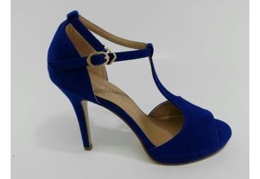 Sandalia tiras azulón
