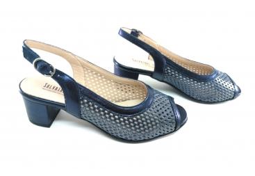 Salvatore Zapato sandalia en azul marino