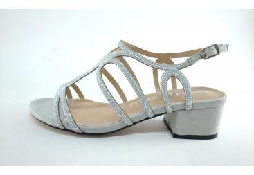 Cayetano sandalia de vestir de señora plata