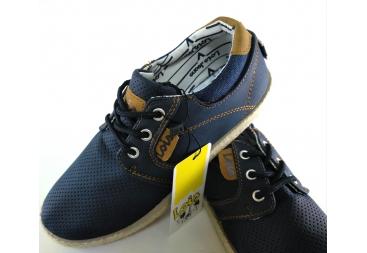 Lois zapatilla tipo zapato azul marino