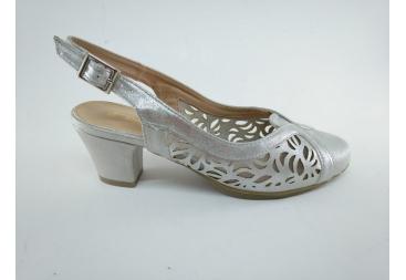 Davinia Zapato en plata rejilla