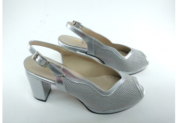 Trebede sandalia señora plata ancho especial