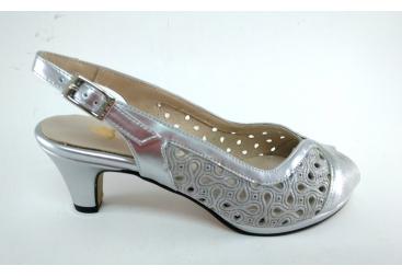 Trebede zapato sandalia color plata