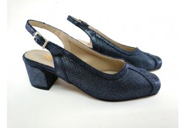Zani zapato de señora azul