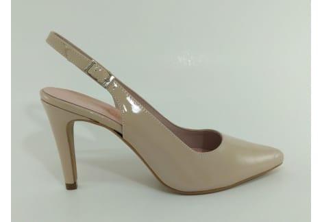 Zapato destalonado charol rosa