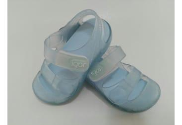 Sandalia de agua de goma celeste