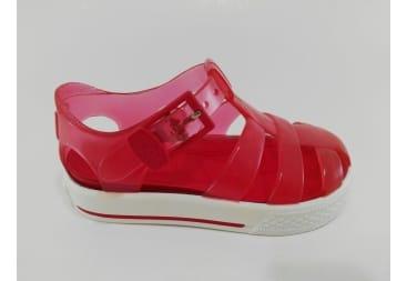 Sandalia roja de agua tipo tenis