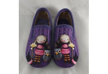 Chispas zapatilla cerrada en color lila