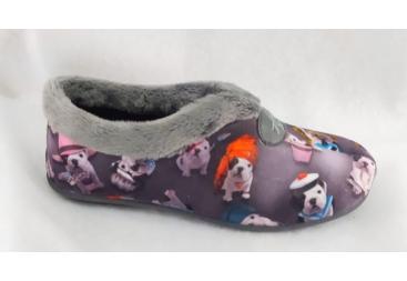 Andinas zapatilla señora cerrada en color gris perritos