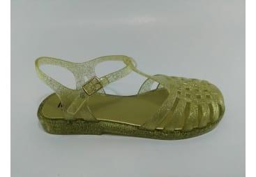 Sandalia de agua de goma dorada